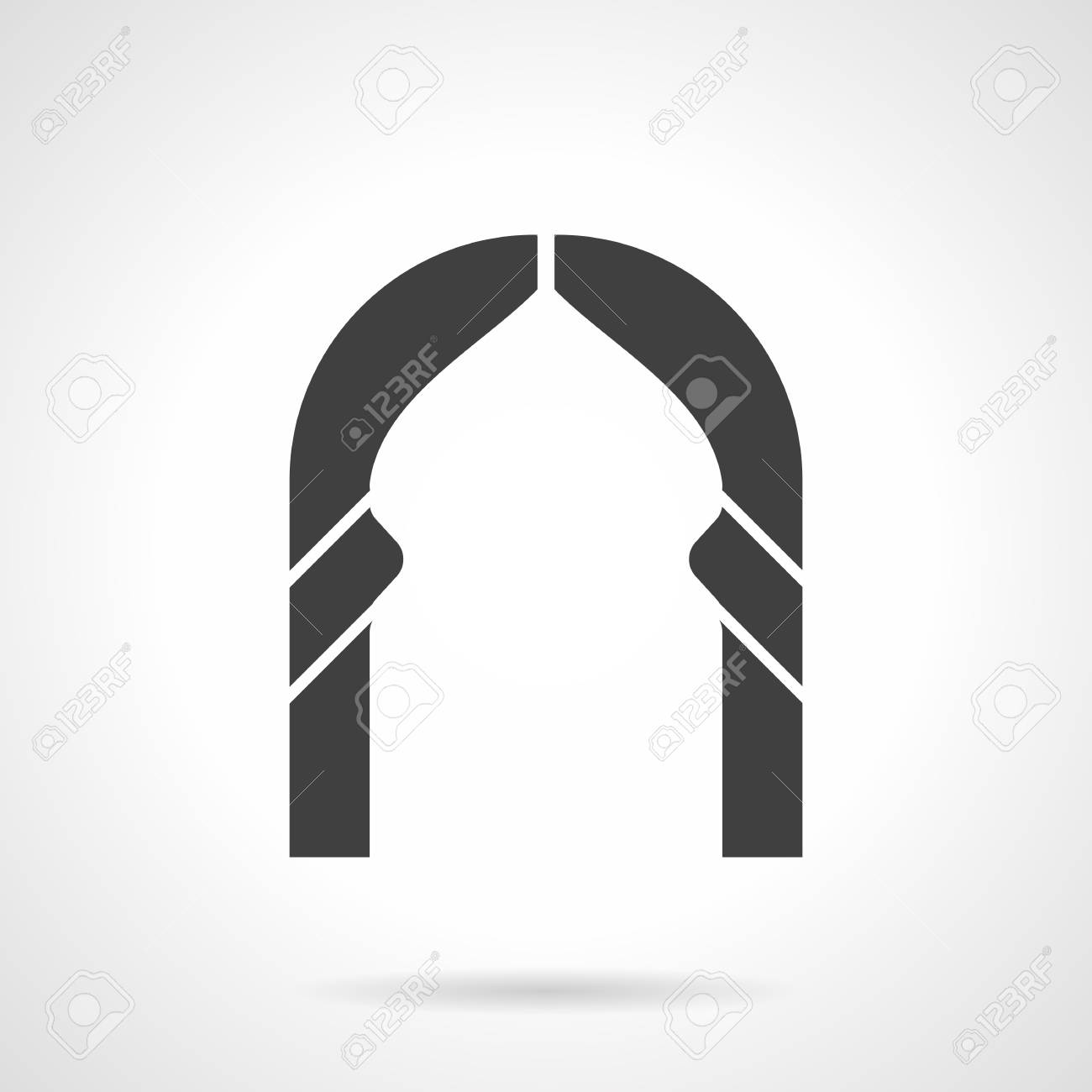 Abstract Silhouette Of Islamic Style Arch Frame. Architecture ...