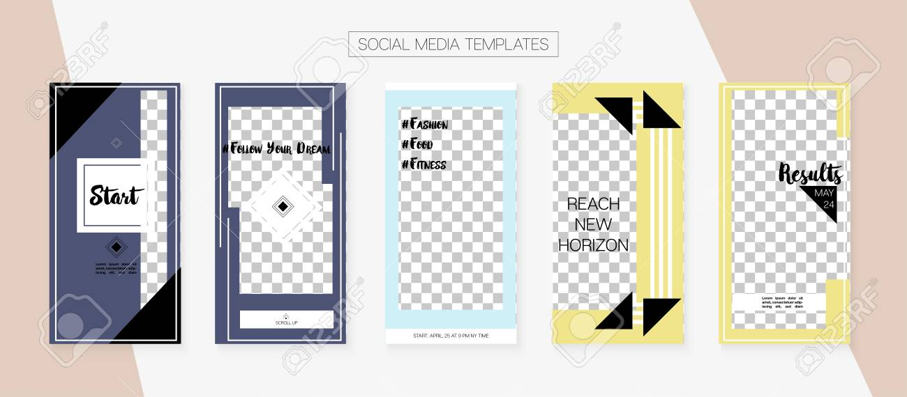Social Media Stories SMM Template  Graphic Apps Design Pack