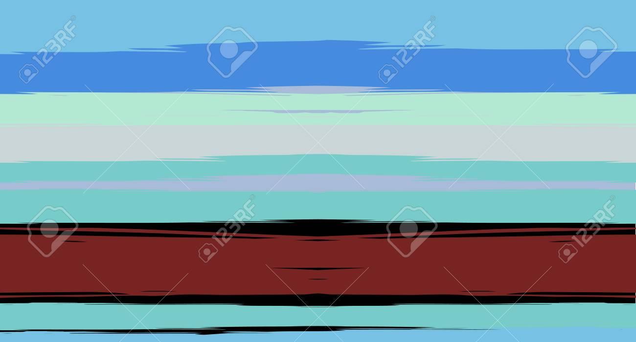 Navy Horizontal Paintbrush Seamless Sailor Stripes Geometric