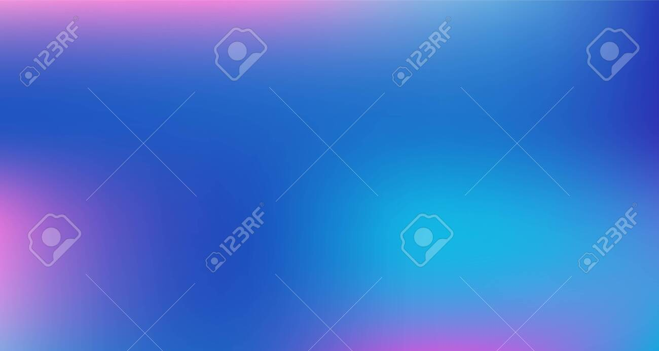 Blue Purple Pink Digital Gradient Background. Elegant Colorful Vibrant Unfocused Horizontal Banner. Fluorescent Noble Vector Color Overlay. Liquid Neon Bright Trendy Wallpaper. 80s Glam Gradient Paper - 143138431