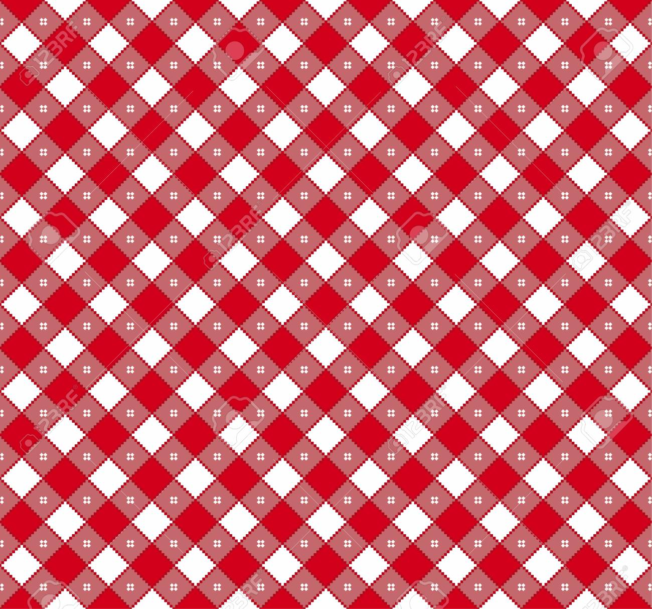 Gingham And Buffalo Check Plaid Pattern. Tablecloth, Fabric Texture, Stamp  For Apparel,