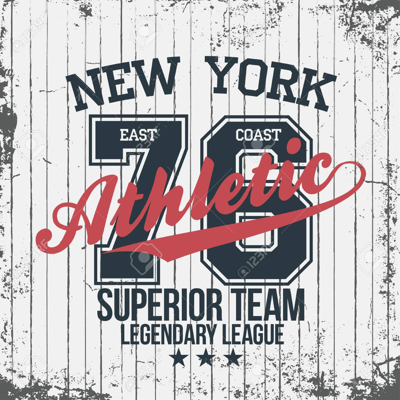 89556507 Vector. New York sportswear emblem. Athletic university apparel design with  lettering. T-shirt graphics