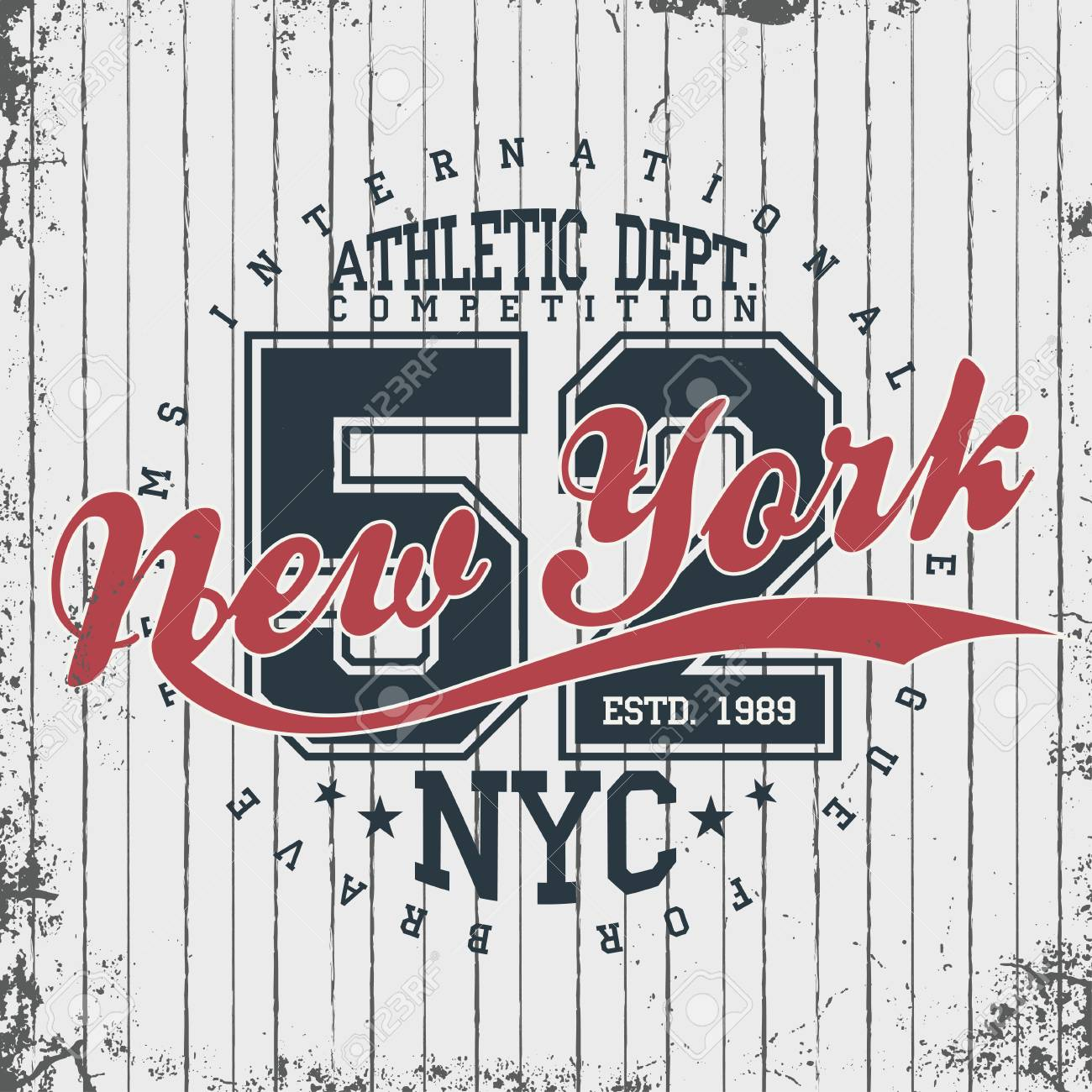 a2d724fe Vector. New York, athletic sportswear emblem. Athletic apparel design with  lettering. T-shirt