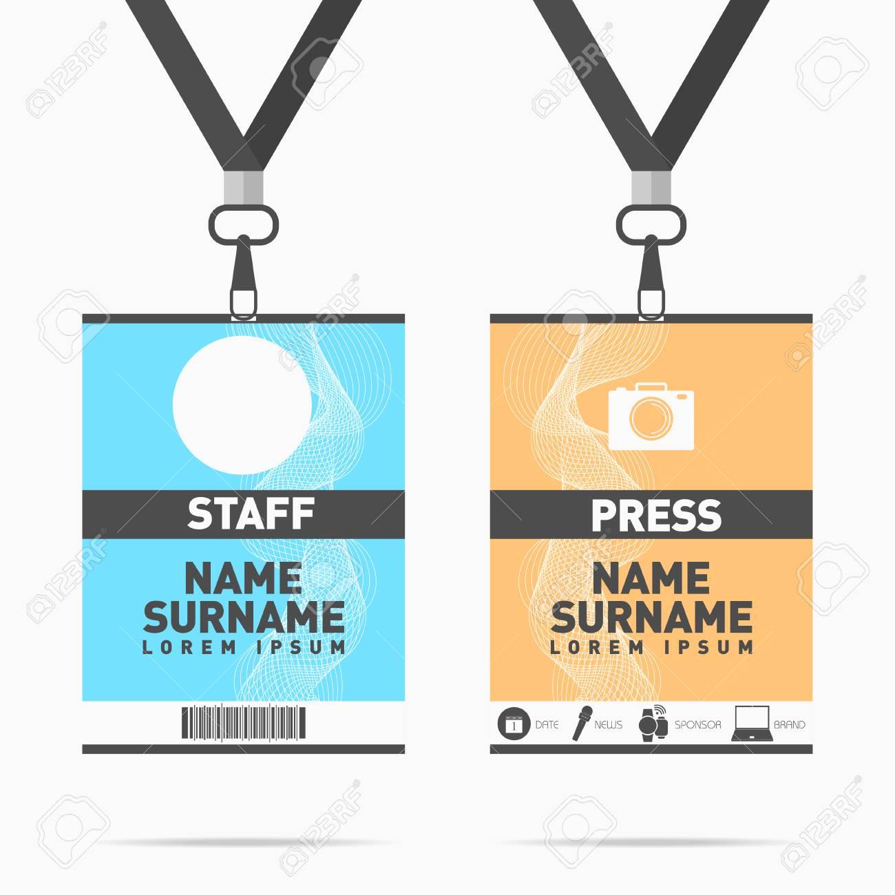 Personal De Eventos Y Tarjetas De Identificación De Prensa ...