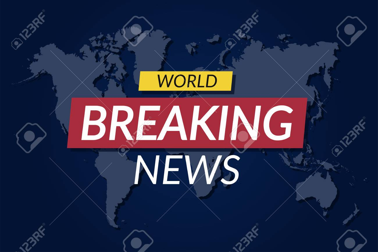 Breaking news background world news banner on world map breaking news background world news banner on world map background vector stock vector gumiabroncs Image collections