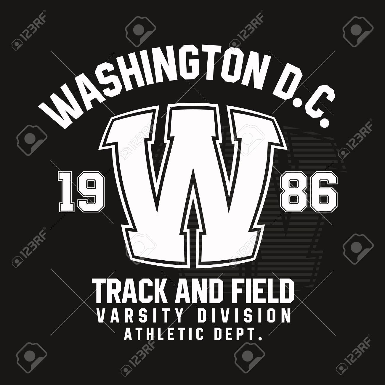Washington typography for t-shirt print. Track and field, athletic t-shirt graphics. Vector - 82672567