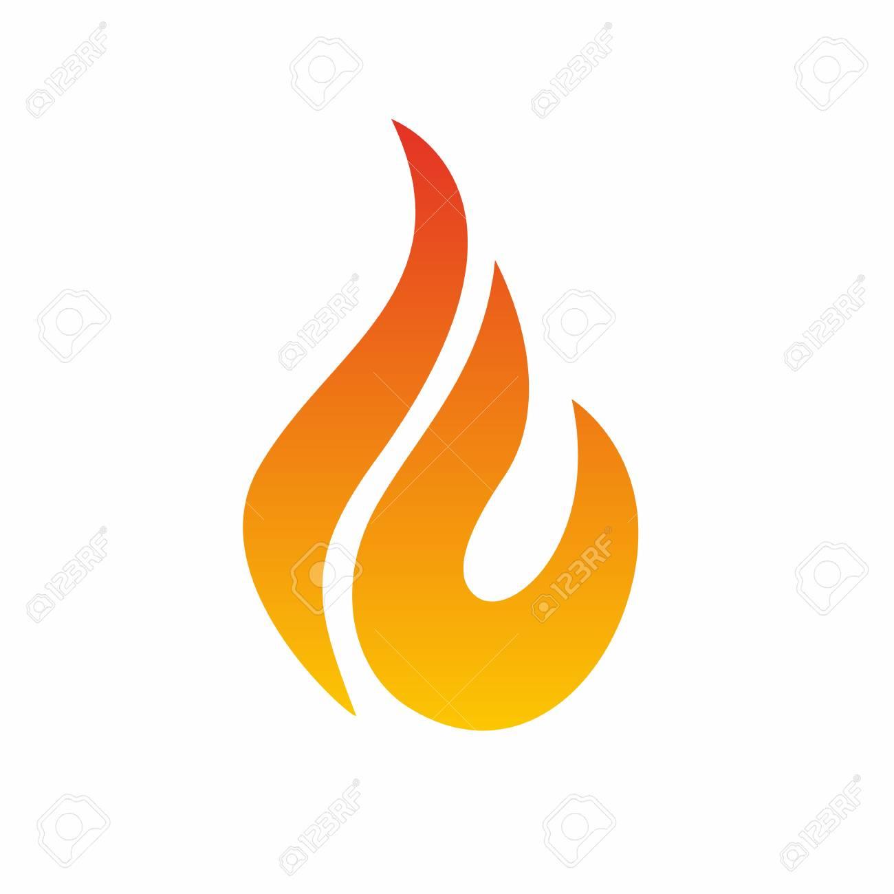 Flame Logo, Fire Icon. Fire Flame Logo Design Template. Vector ...
