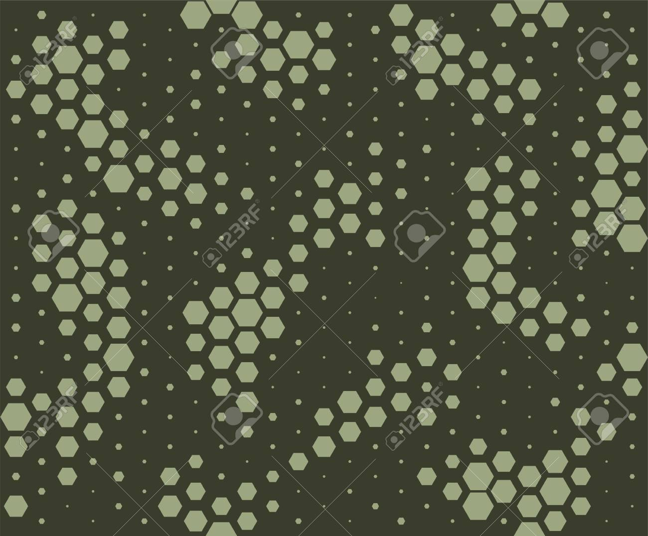 Camouflage pattern. Snake skin style, halftone seamless pattern. Green camo background. Vector - 83393214