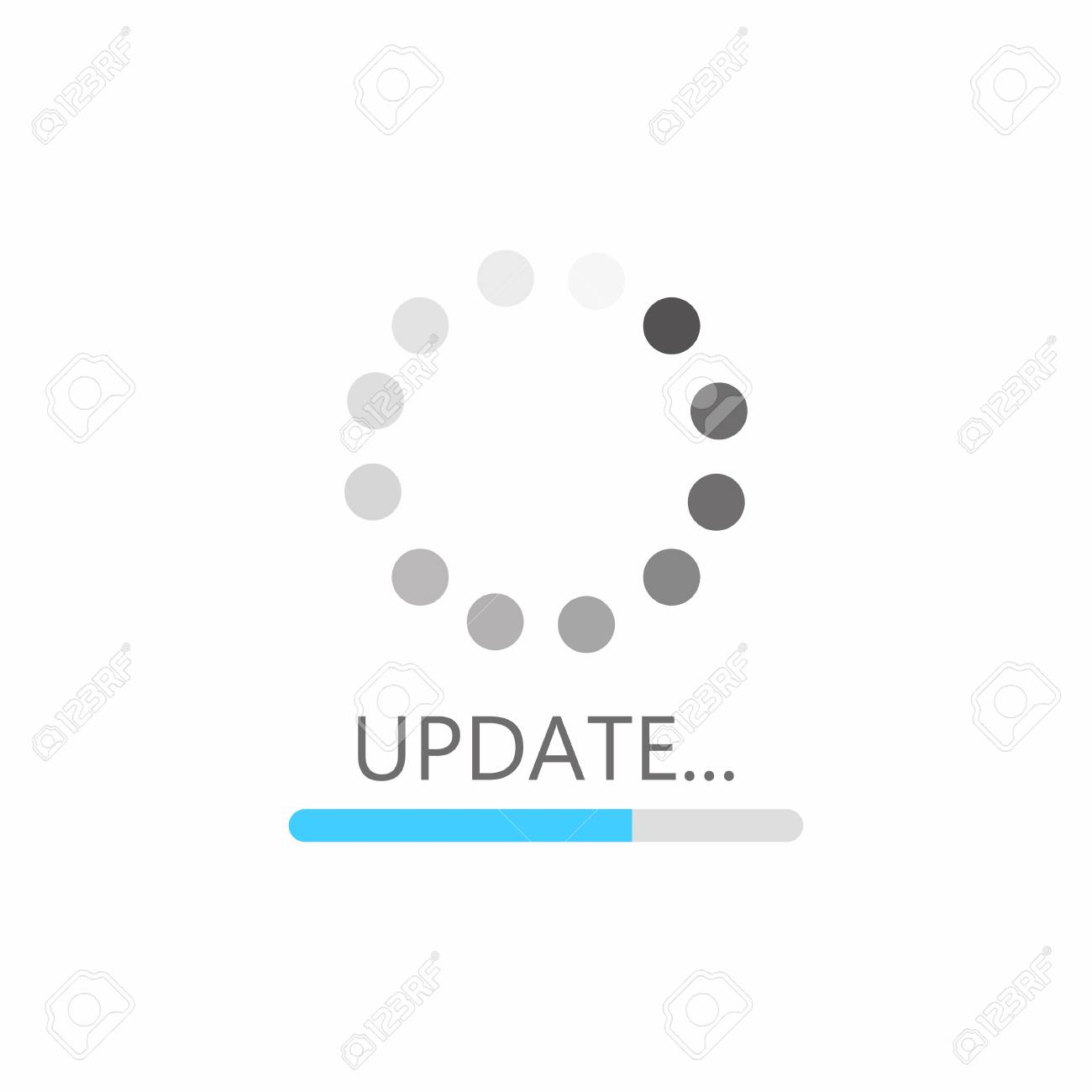 Update icon. System software upgrade concept, loading bar. Vector - 85186921