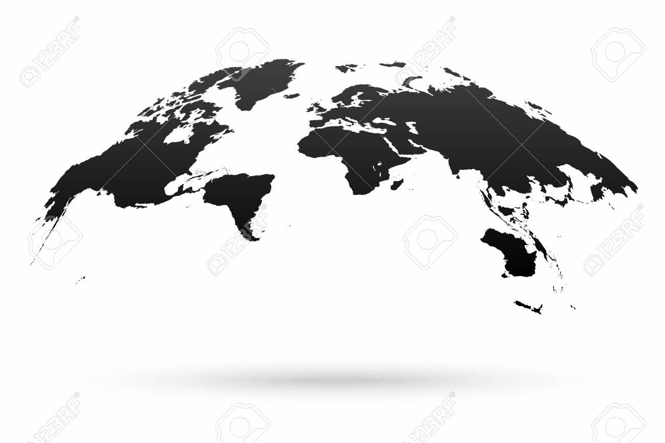 World Map Globe Isolated On White Background. Stylized World Map In ...