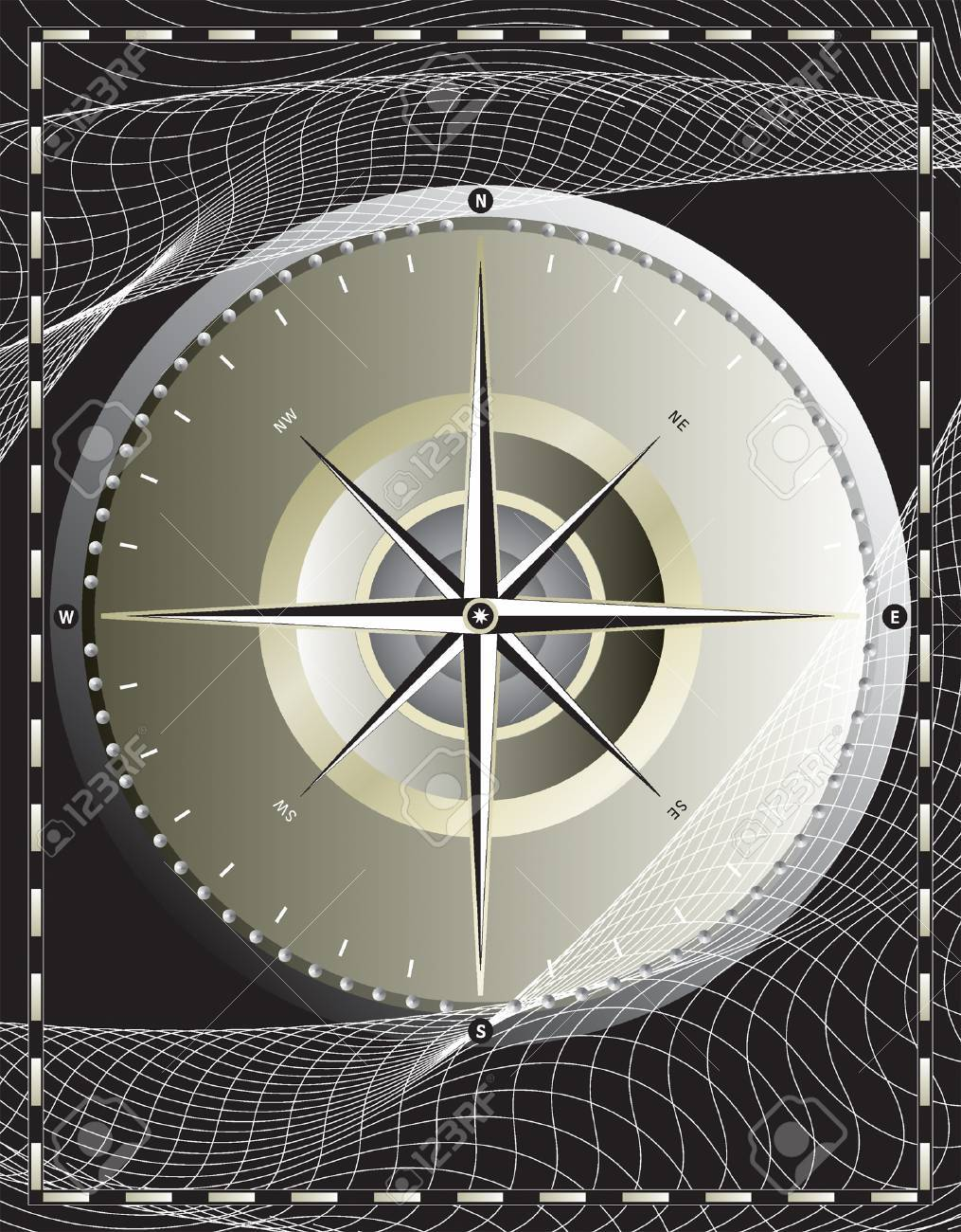 vector file_ compass design Stock Vector - 1931002