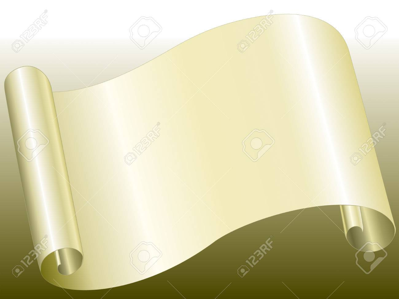 yellow color paper bended Stock Vector - 2246772