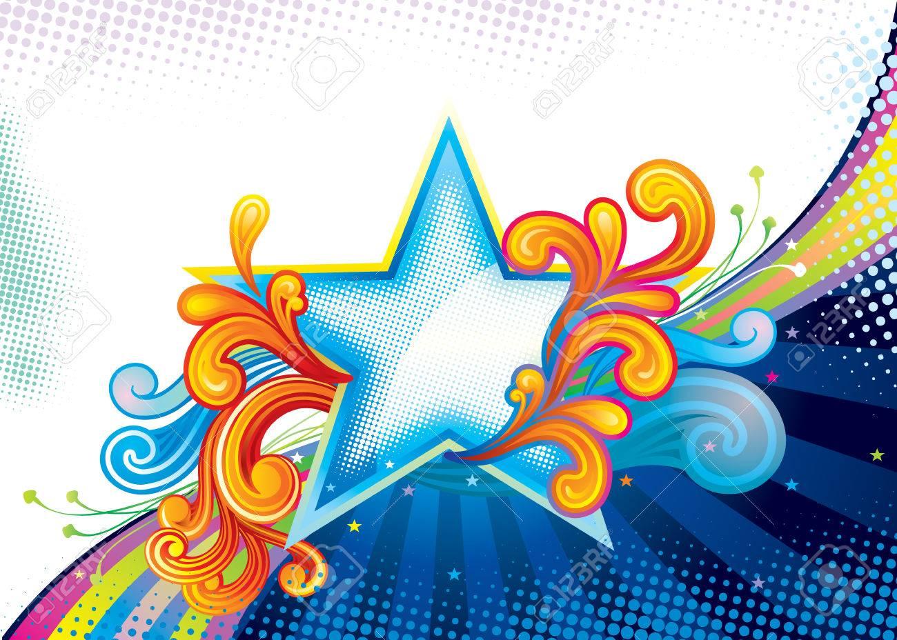 Elegance Star Shape, vector illustration layered file. Stock Vector - 3318410
