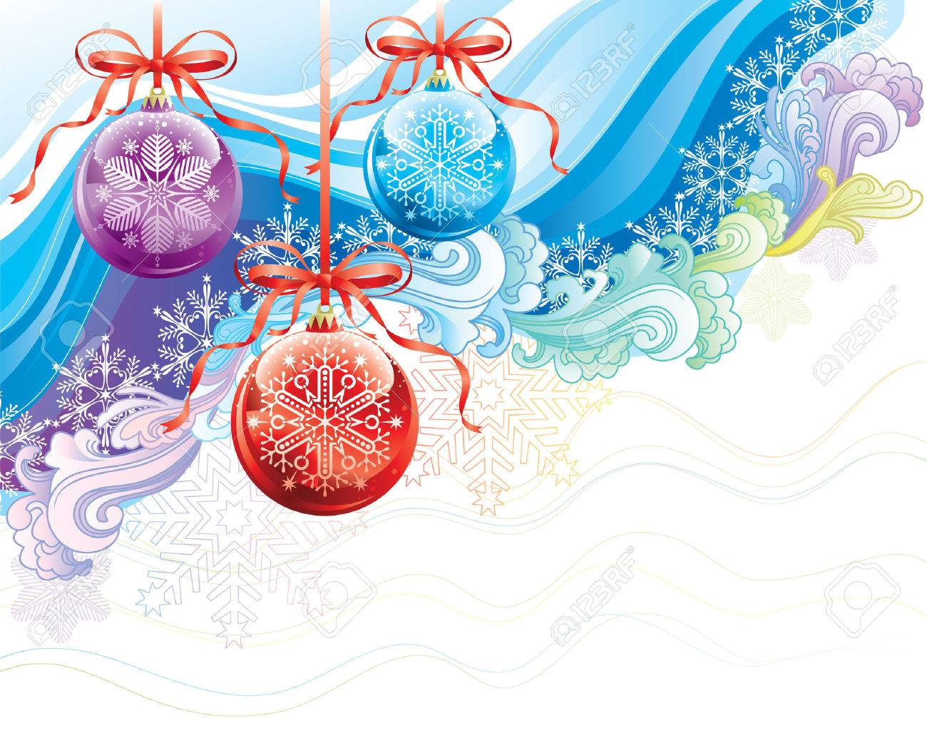 Beautiful Christmas Ornaments beautiful christmas ornaments background, vector illustration