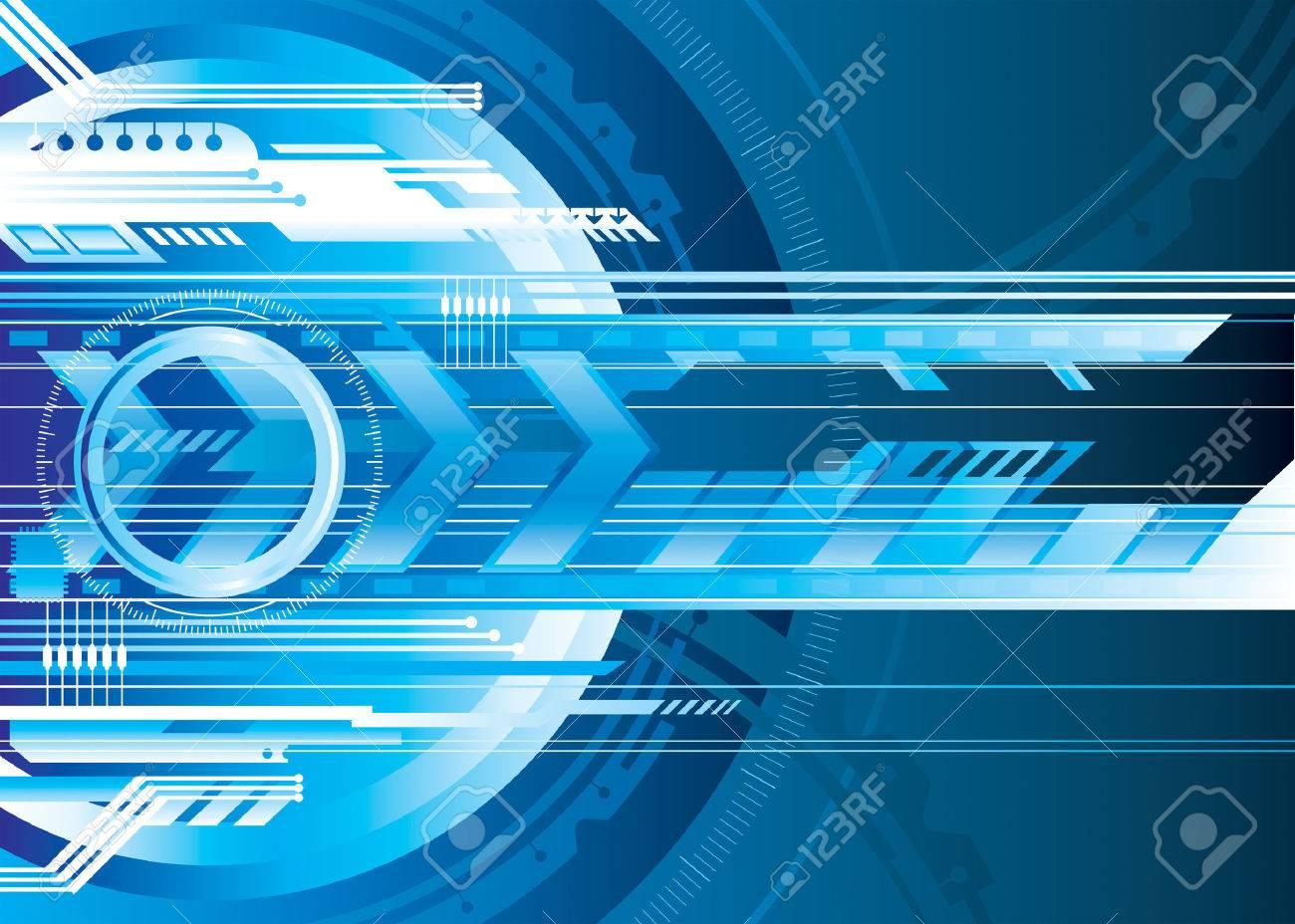 Blue Digital technology background, vector illustration layered. Stock Vector - 3945139