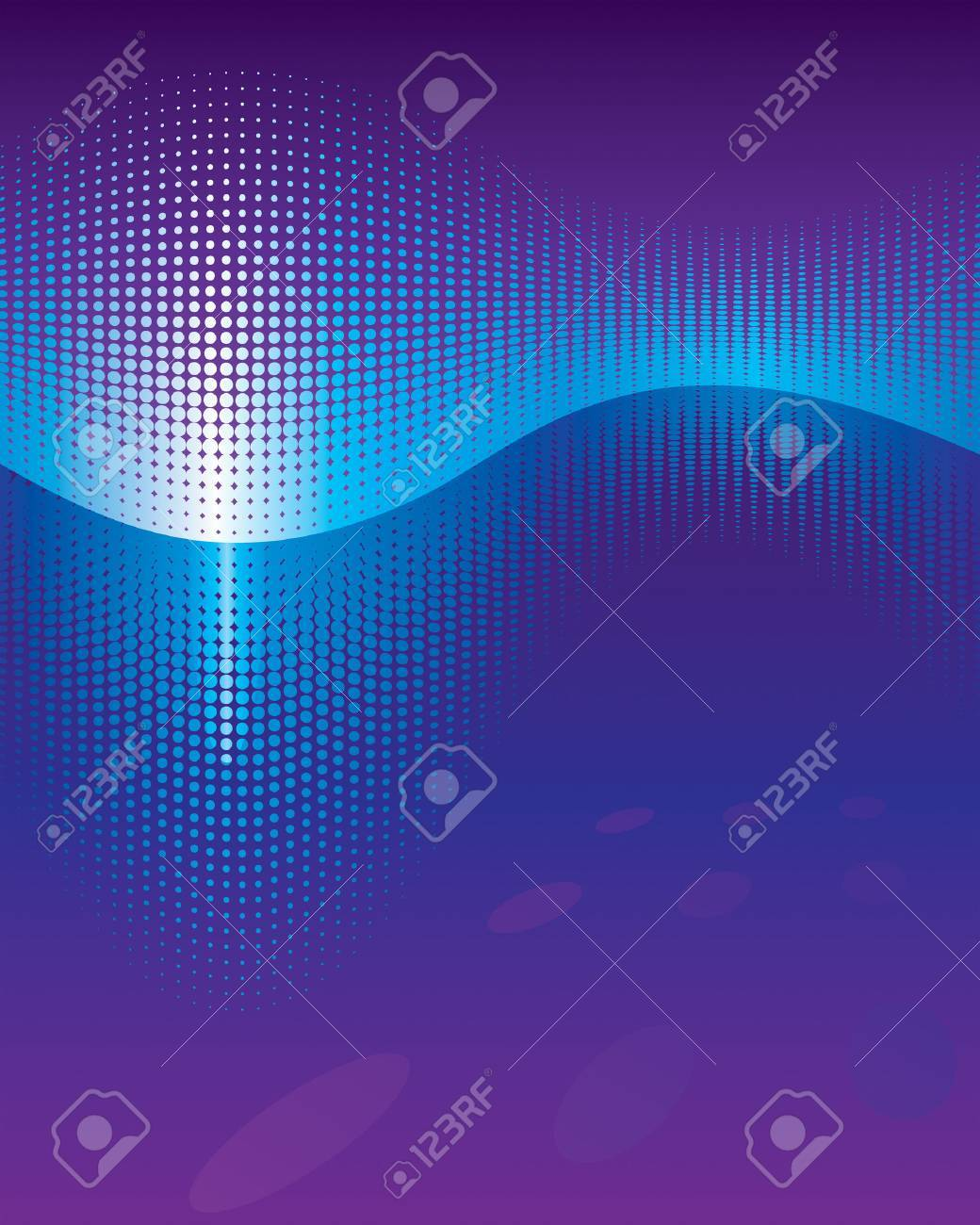 Equaliser Waveform abstract background. Vector layered. Stock Vector - 4726855