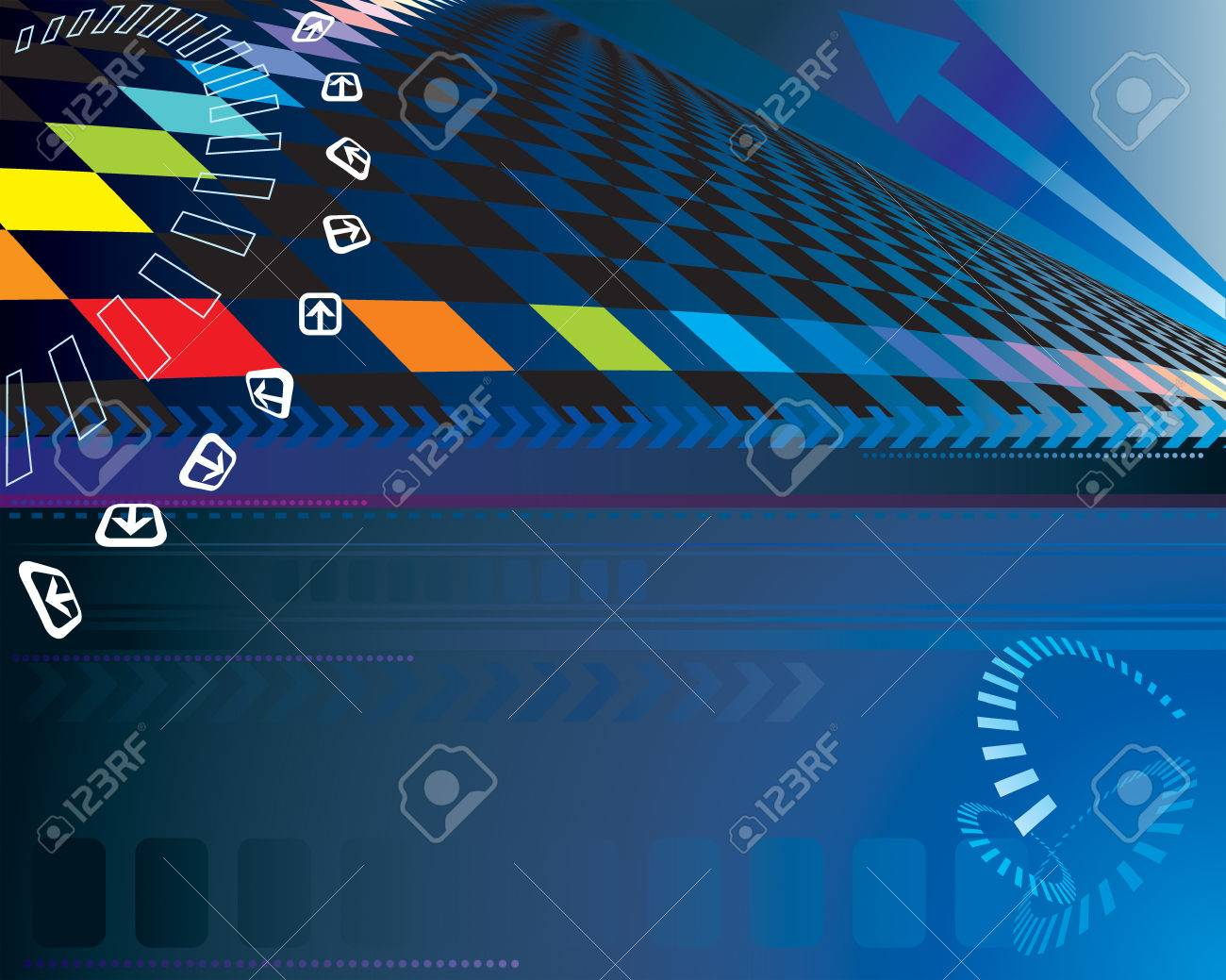 Abstract Digital background with arrow. Vector layered. Stock Vector - 5000499