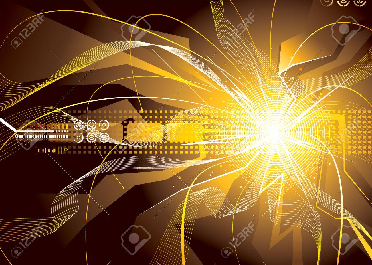 Technology background of energy sparks. Stock Vector - 6049438