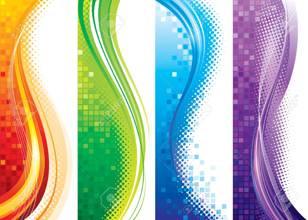 Design Set Of Vertical Modern Backgrounds, Royalty Free Cliparts ...