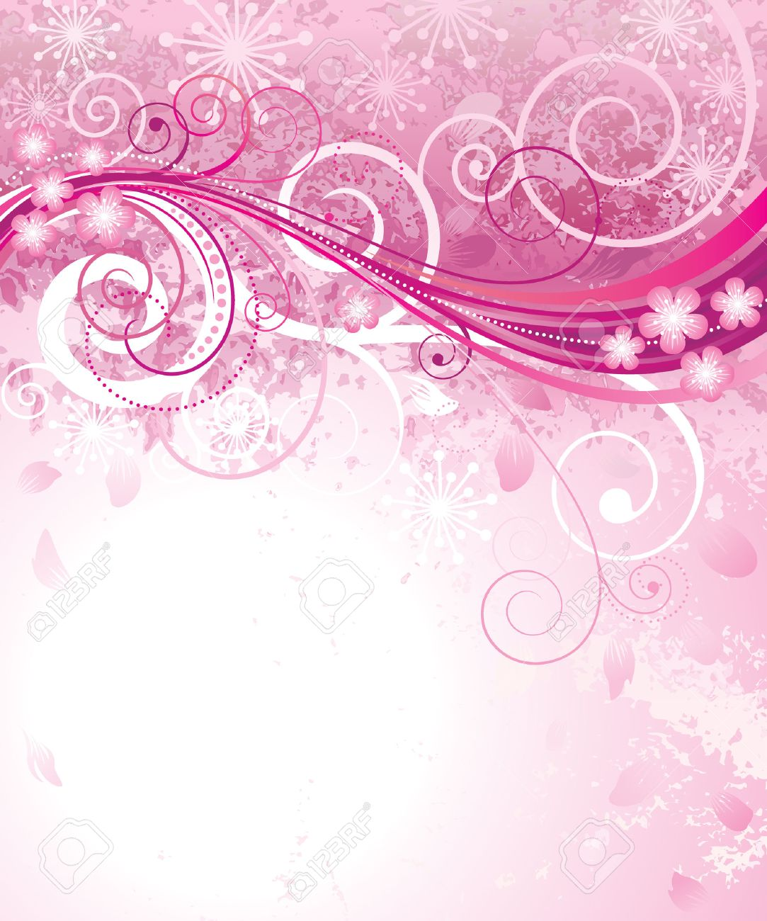 Abstract Pink Floral Background In Pink Royalty Free Cliparts