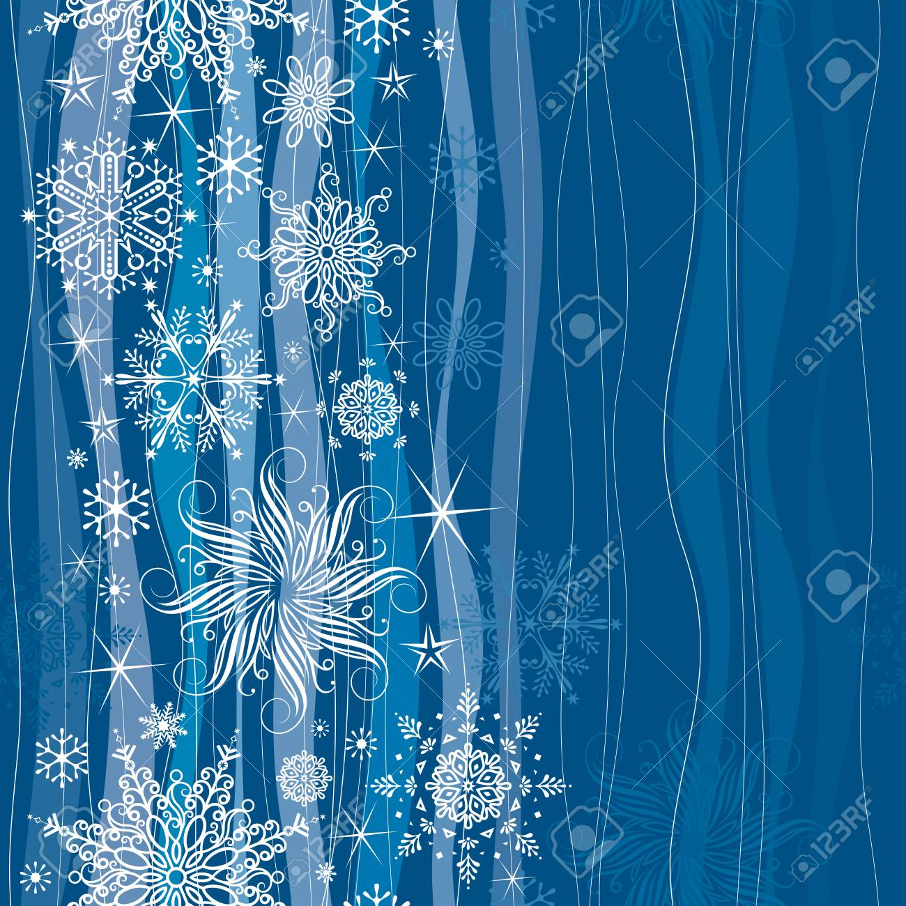 Seamless both side illustration of Christmas snowflakes. Stock Vector - 7618741