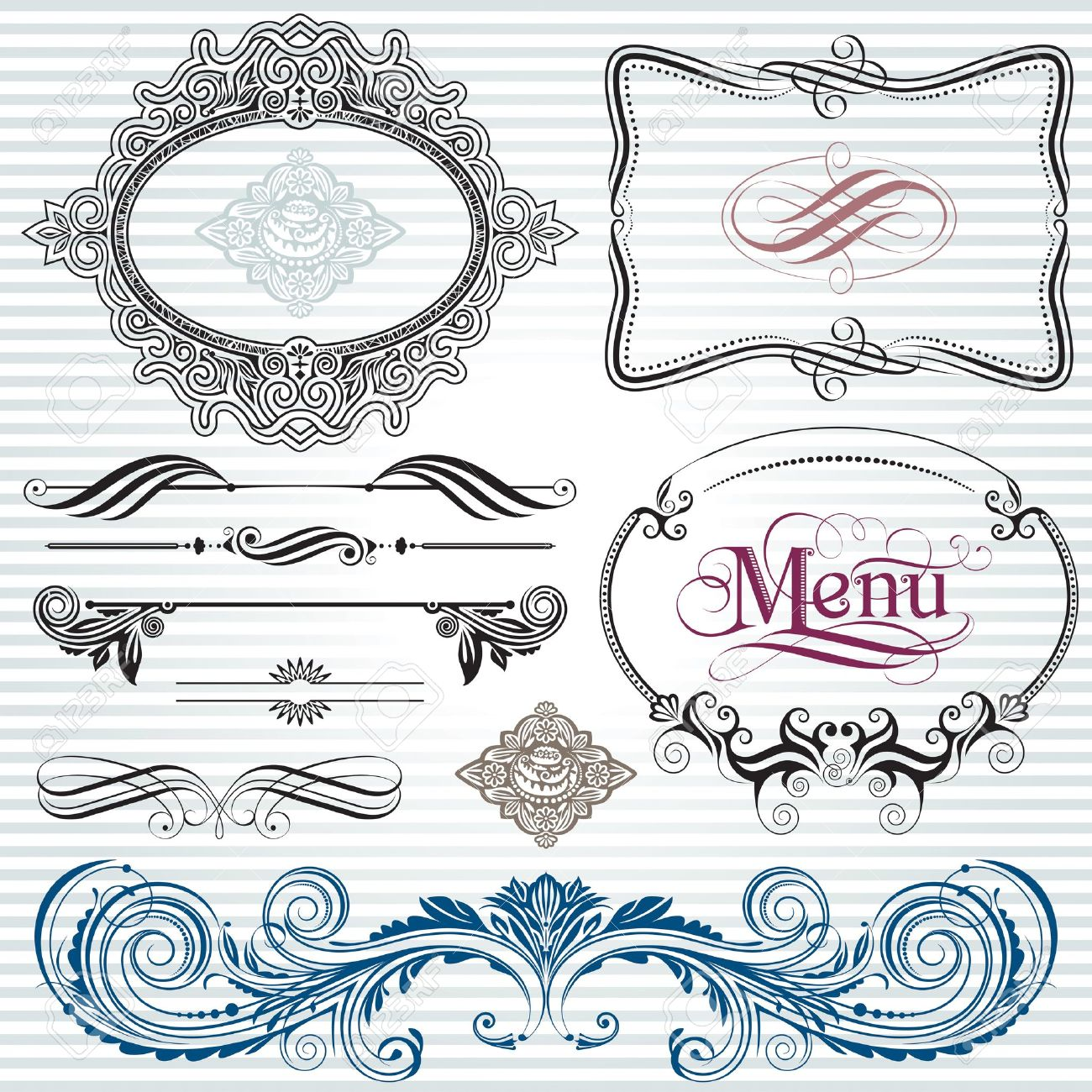 Ornamental and page decoration design elements. Stock Vector - 11405559