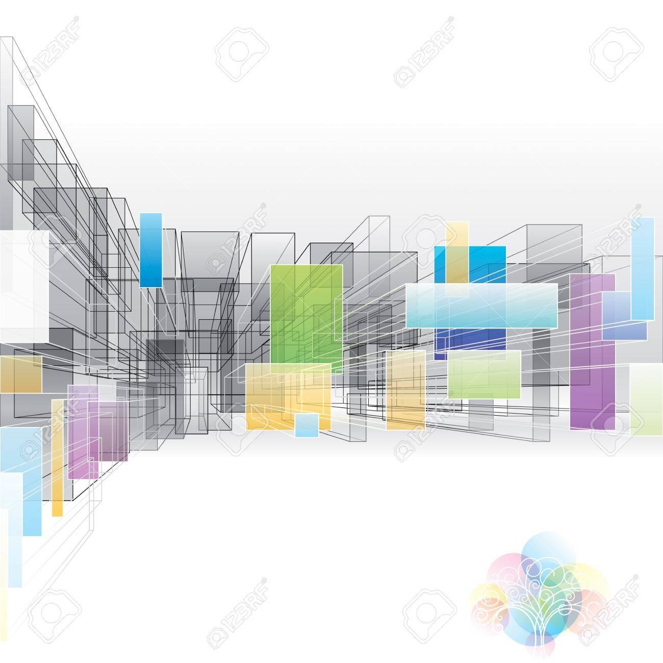 Fondo Abstracto 3D Para La Arquitectura Y El Diseño. Ilustraciones ...
