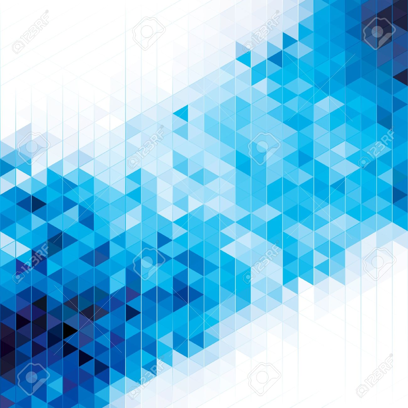Abstract modern geometric blue background - 20779937