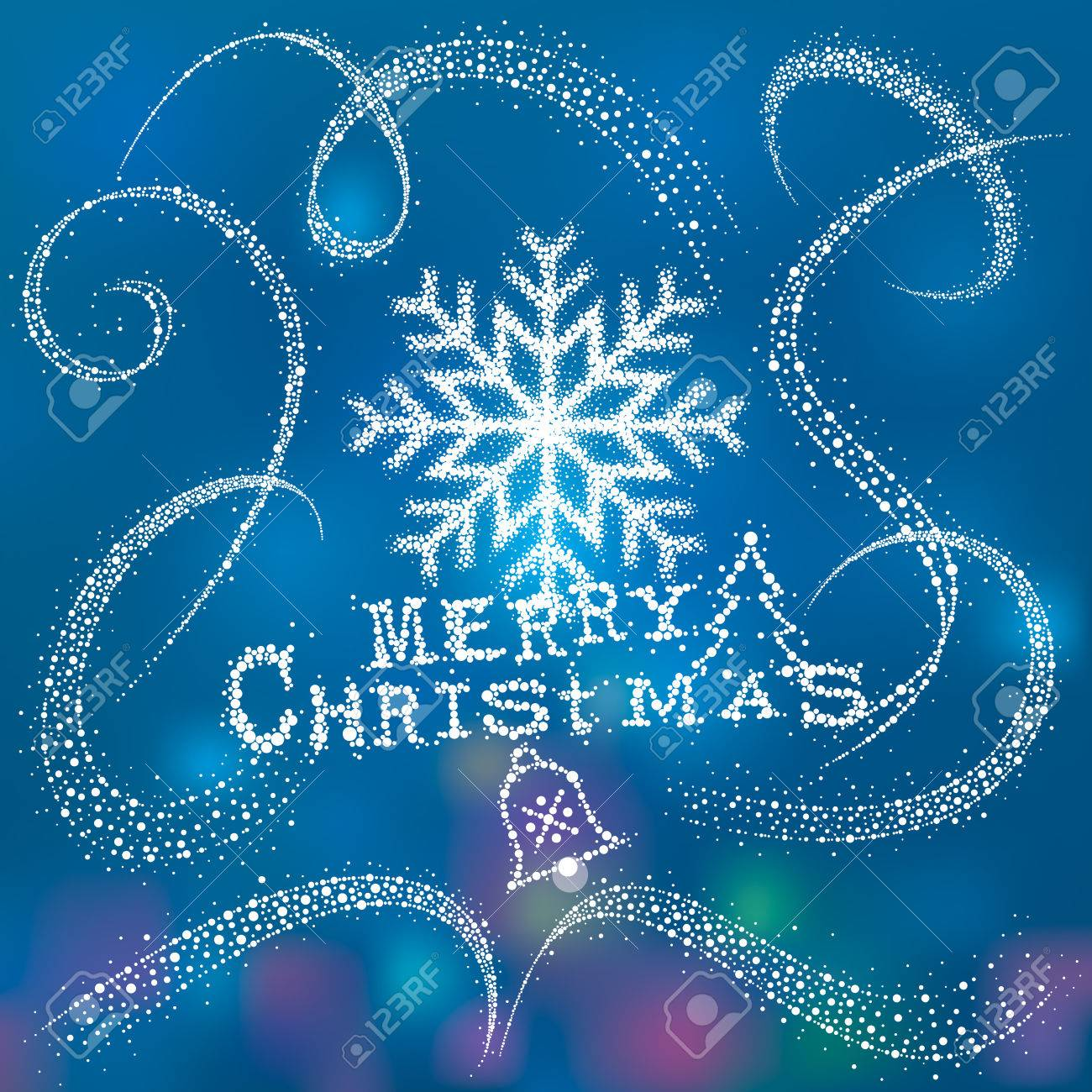 christmas snowflake with magic snow dust tail royalty free