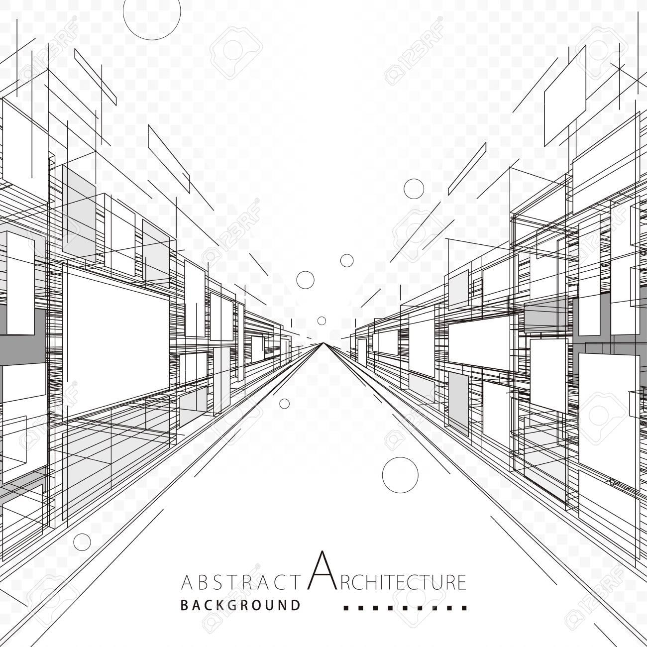 Perspectiva Abstracta De La Construcción De La Arquitectura Que ...