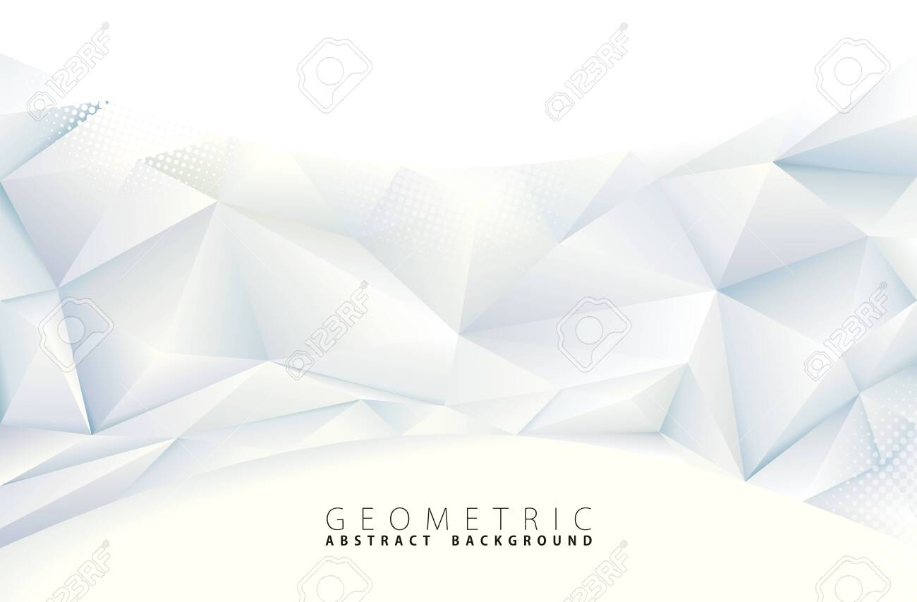 Abstract polygonal gray geometric background. - 128327986