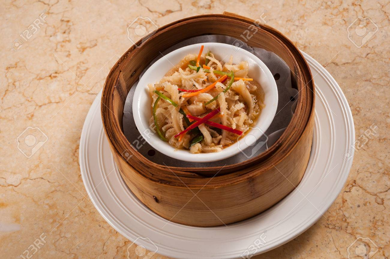 Steamed Beef Tripe With Ginger And Scallions Stock Photo Picture