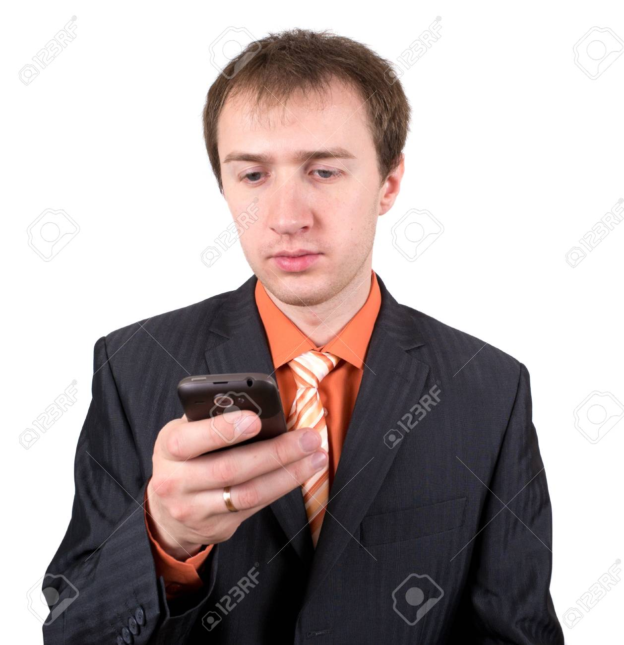 The young man with a mobile phone Stock Photo - 9629869