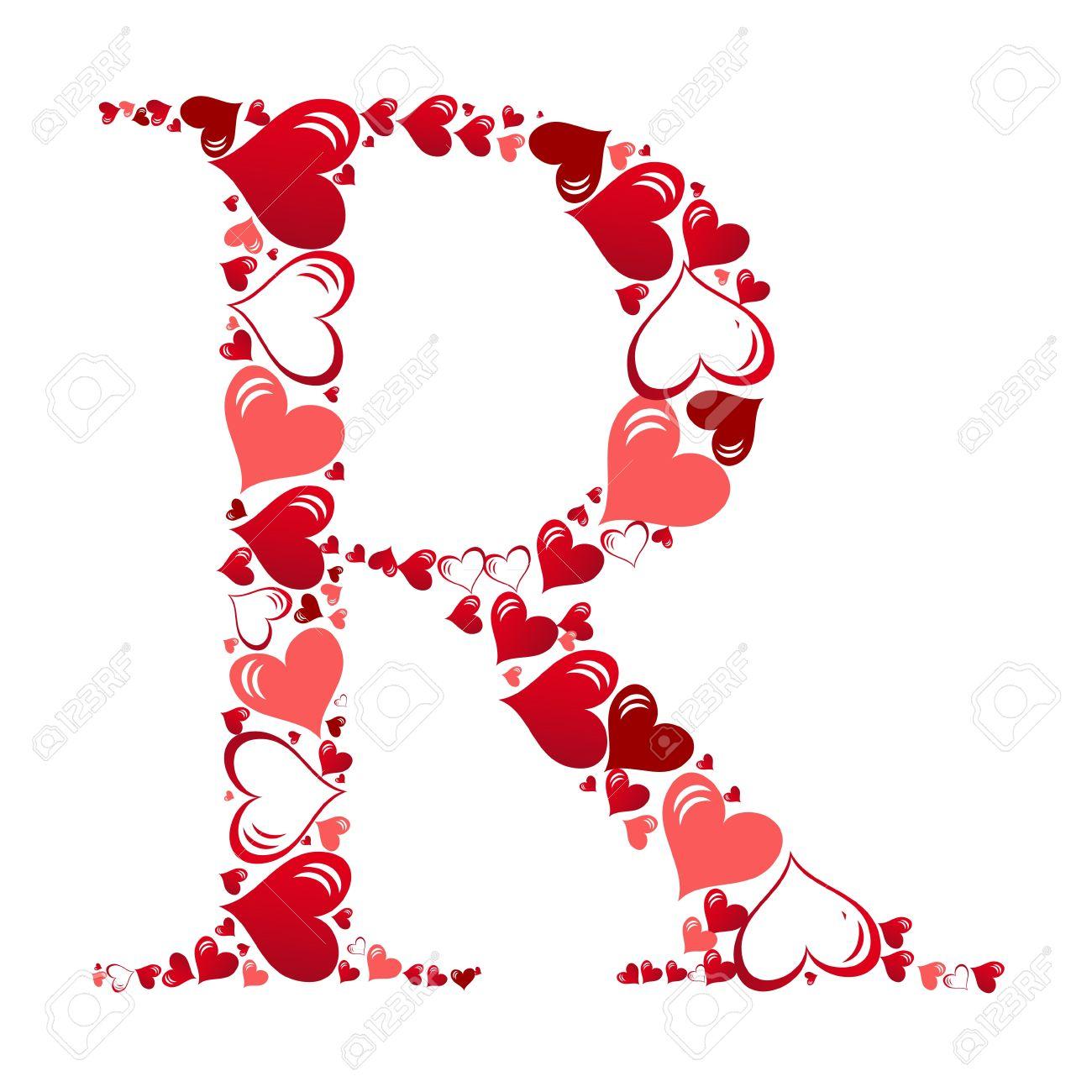 Alphabet of hearts vector illustration Stock Vector - 11083706