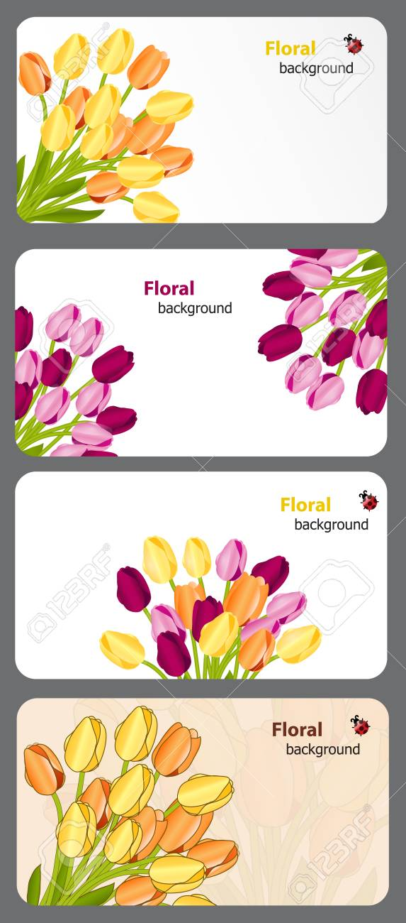 Set of nature gift cards vector illustration Stock Vector - 12303520