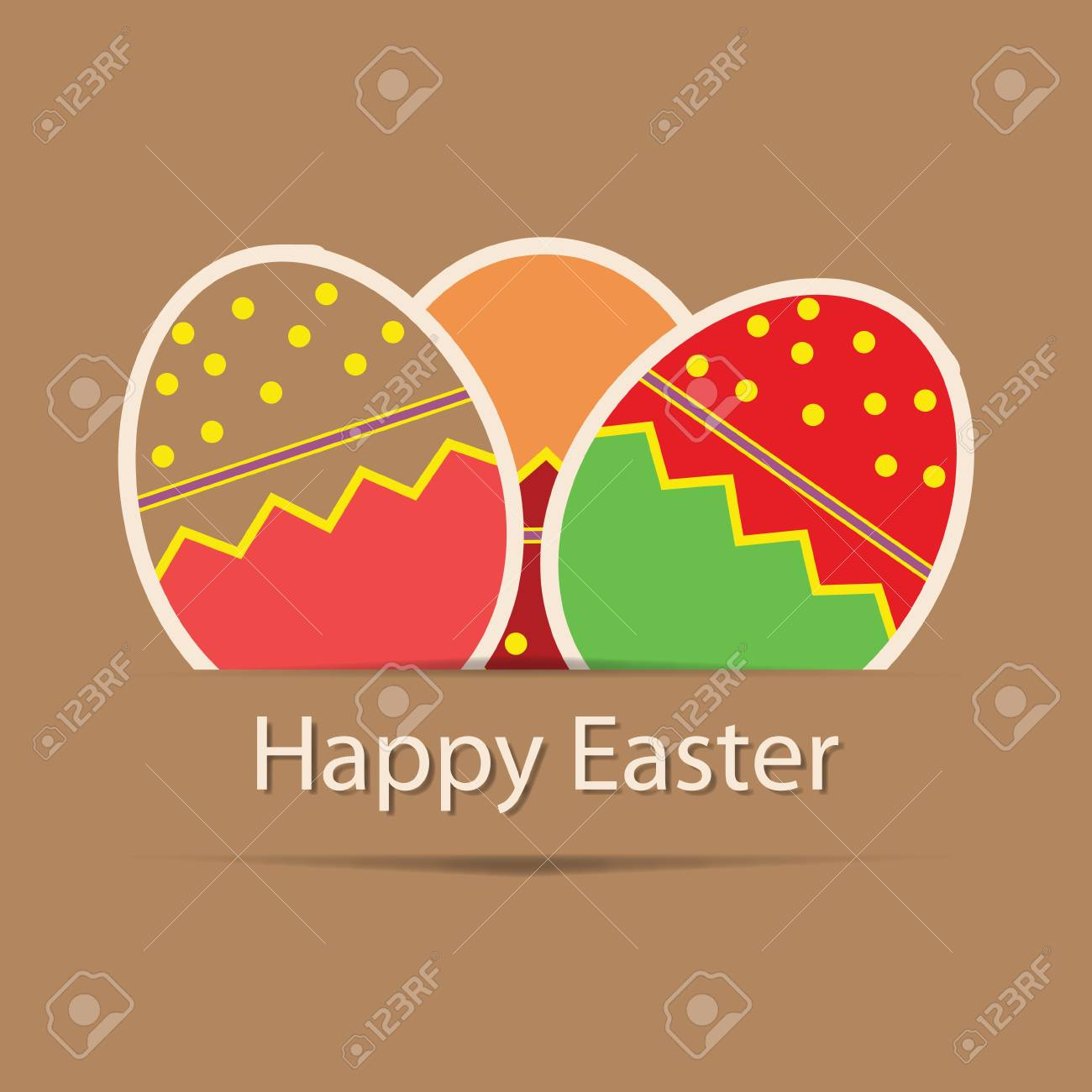 Easter eggs card with colourful eggs  vector illustration Stock Vector - 12709926