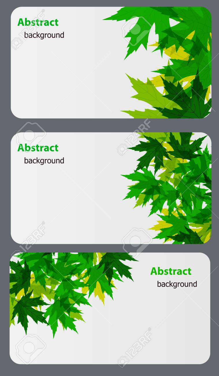 Set of nature gift cards vector illustration Stock Vector - 12709962