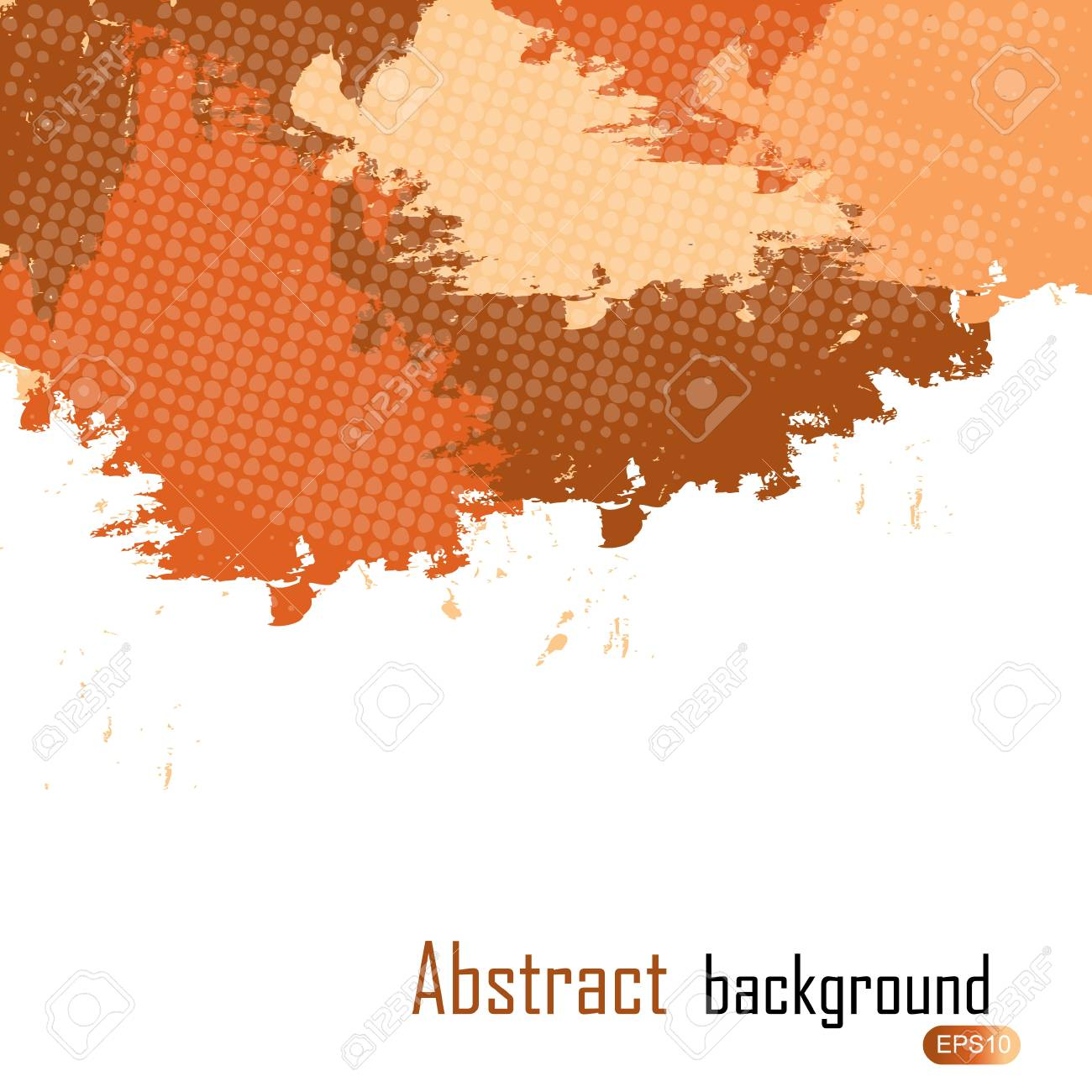 Orange abstract paint splashes illustration. Background with place for your text. Stock Vector - 12833471
