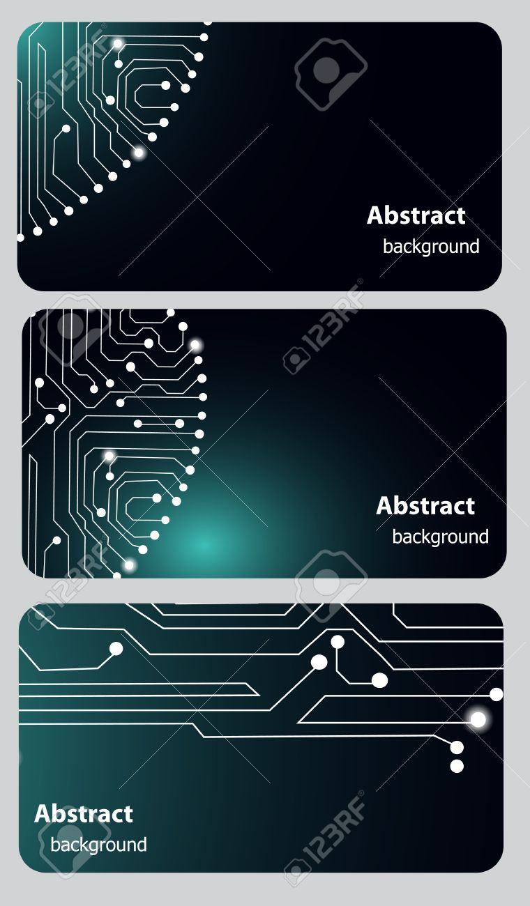 Busitess card templates with Circuit board Stock Vector - 13008282