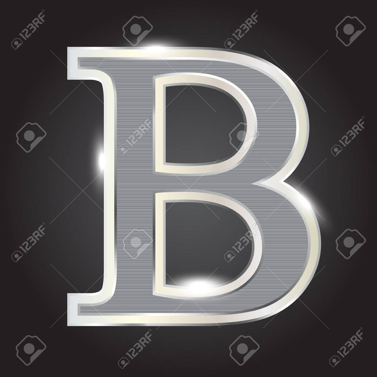 Silver metallic fonts vector illustration Stock Vector - 13113209