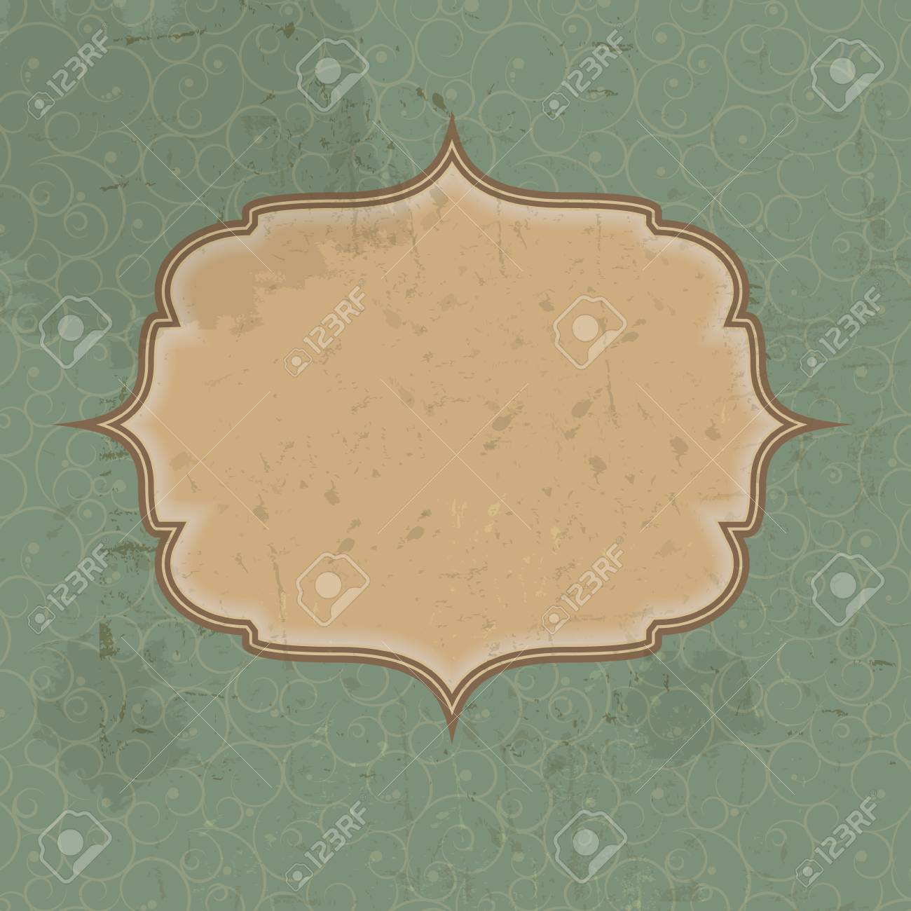 Retro vintage grunge background illustration Stock Vector - 15190673