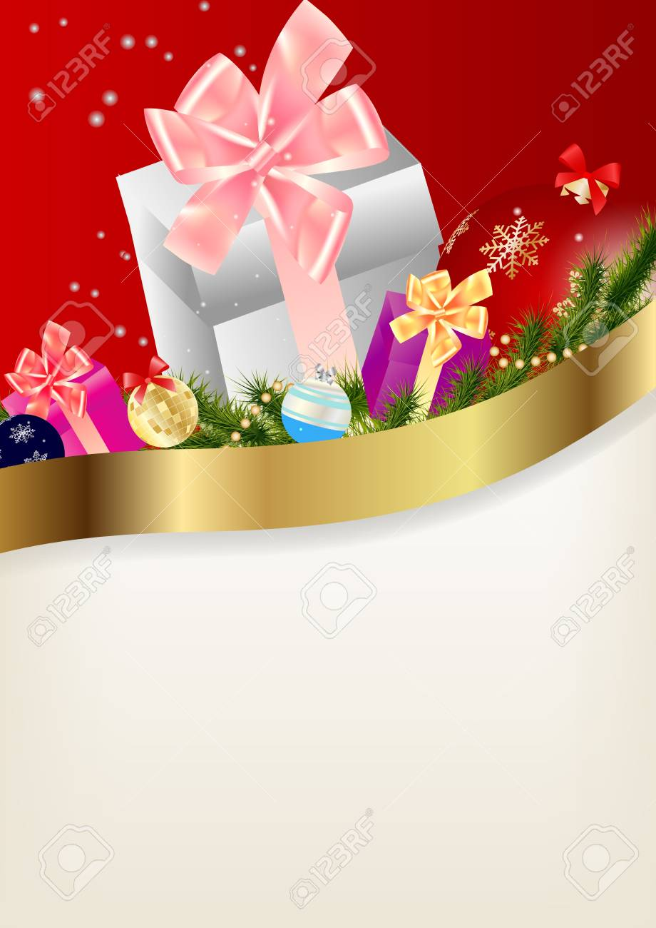 Abstract beauty Christmas and New Year background. Stock Vector - 14916554