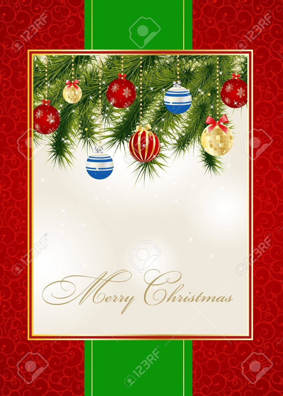 abstract beauty christmas and new year invitation background vector illustration stock vector 14981321