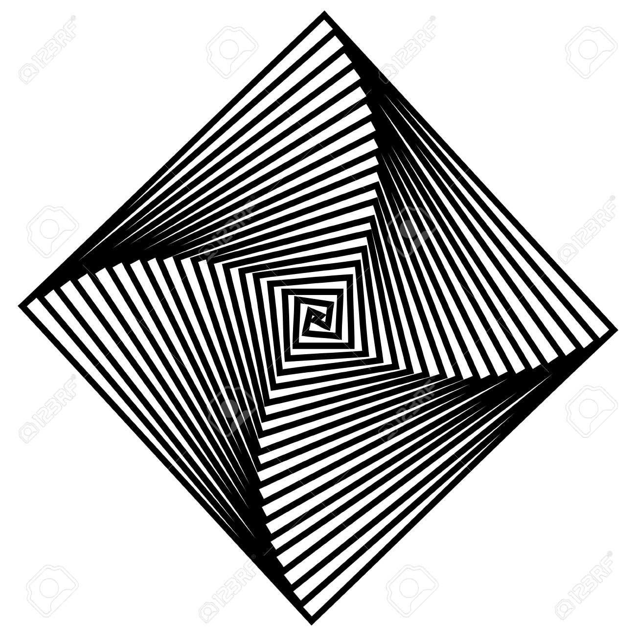 Black and white hypnotic background. Stock Vector - 14965577
