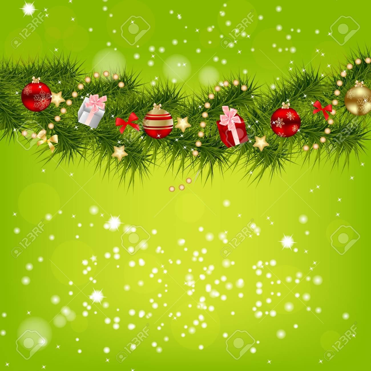 abstract beauty christmas and new year background stock vector 15023549