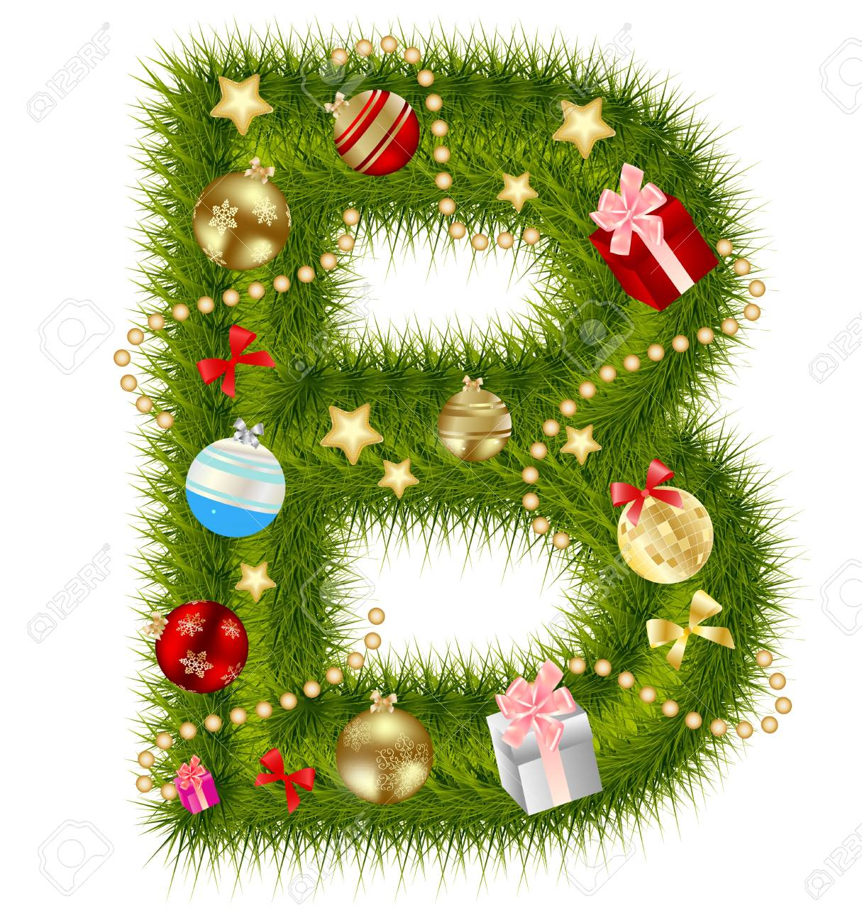 Abstract Beauty Christmas And New Year Abc. Royalty Free Cliparts ...