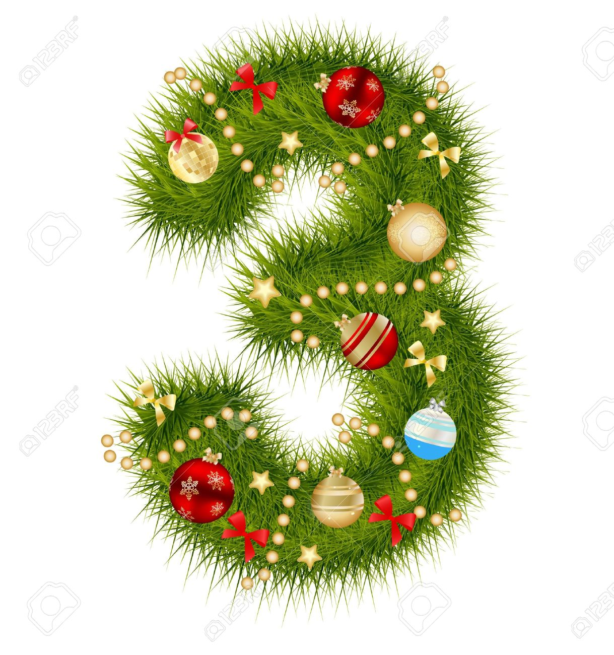 Christmas alphabet number Stock Vector - 15282107