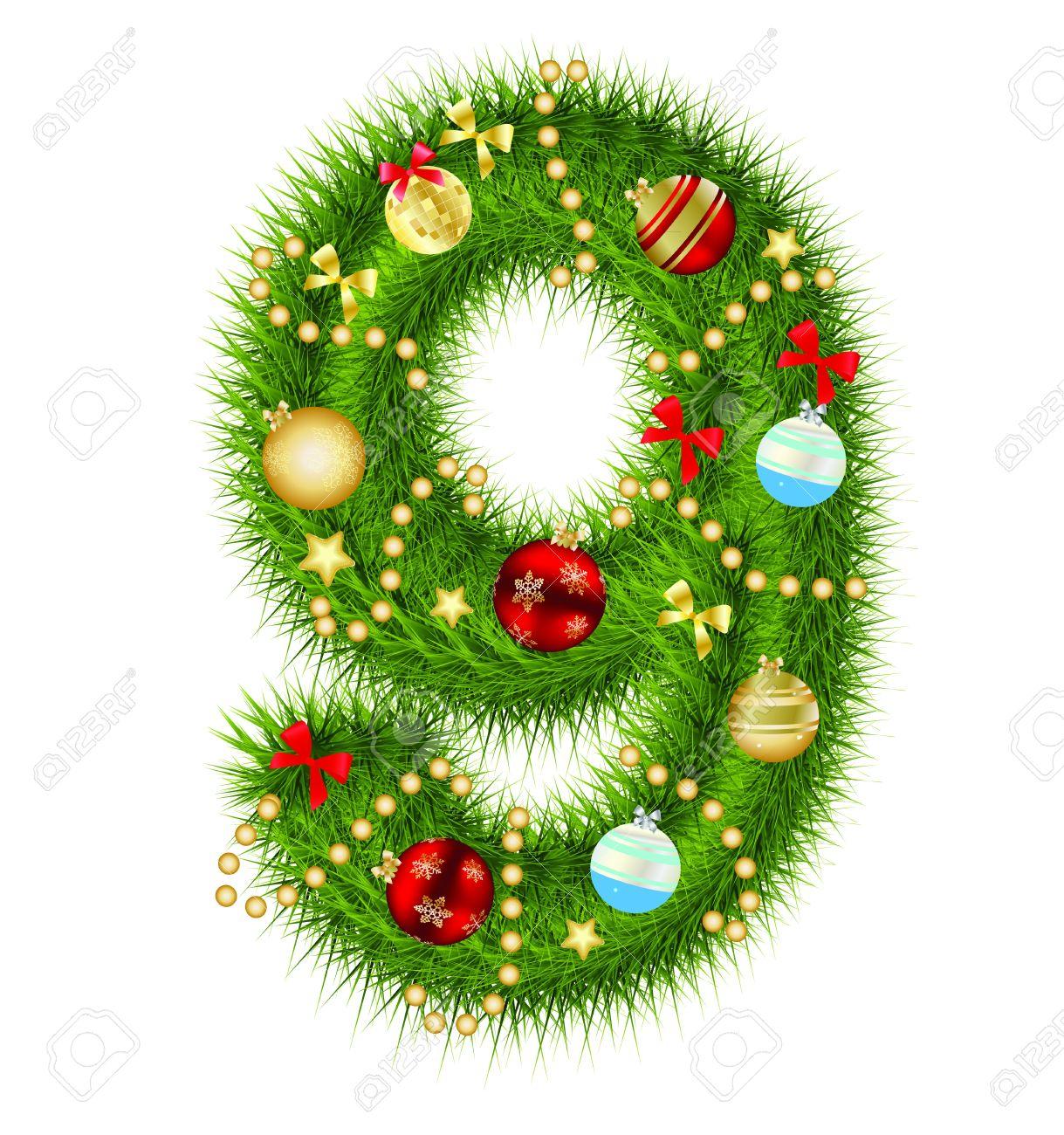 Christmas alphabet number Stock Vector - 15282315