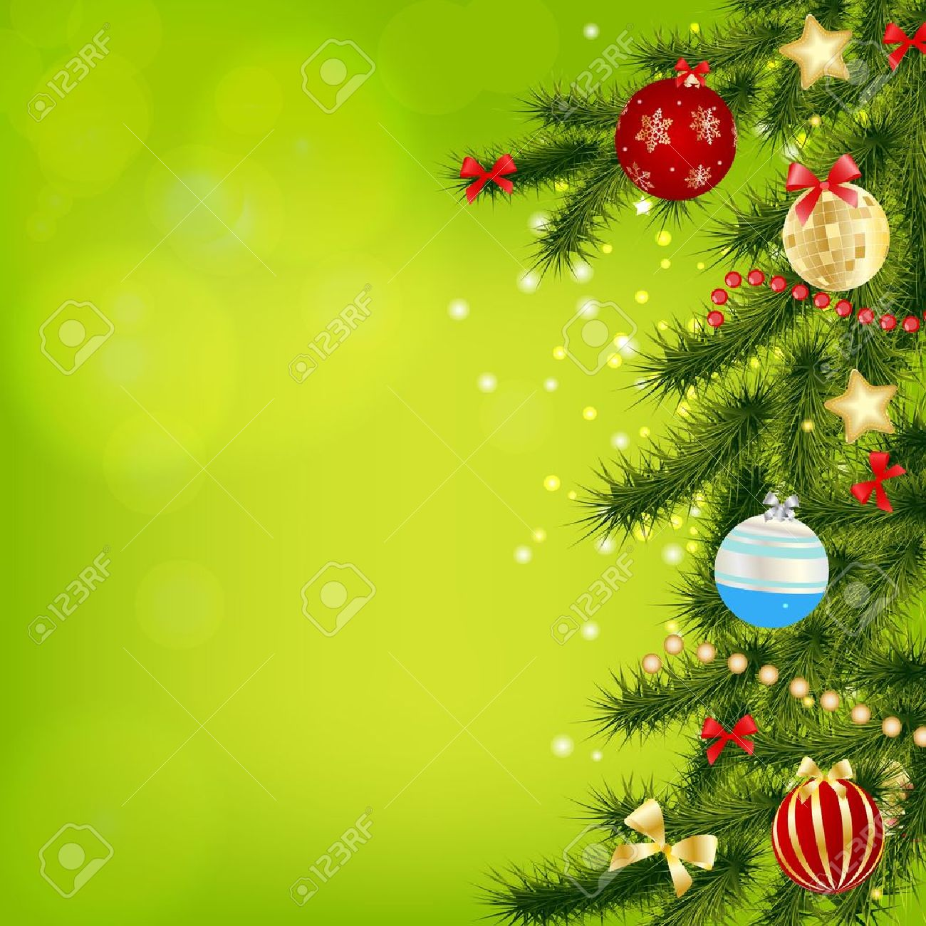 abstract beauty christmas and new year background vector illust stock vector 15654598