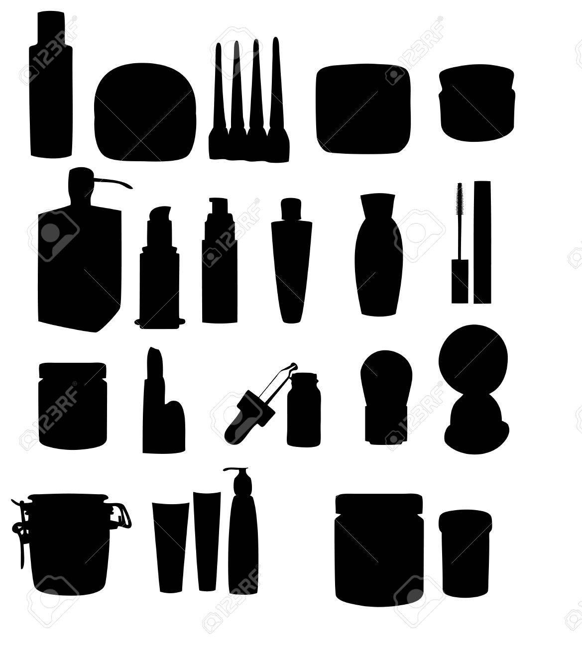 Wide range of cosmetic jars Stock Vector - 15736220